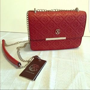 Christian lacroix cross body red bag